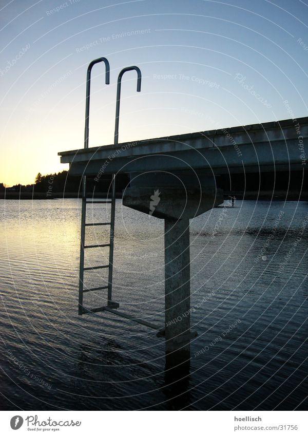 Sky Water Sun Loneliness Footbridge Ladder Bog