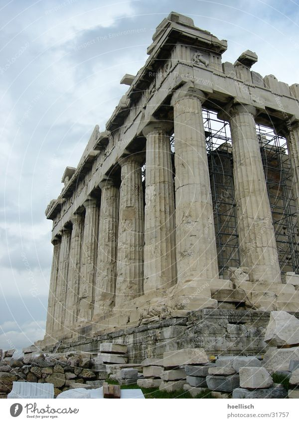 Past Manmade structures Historic Column Greece Ancient Temple Athens Acropolis Pantheon Parthenon