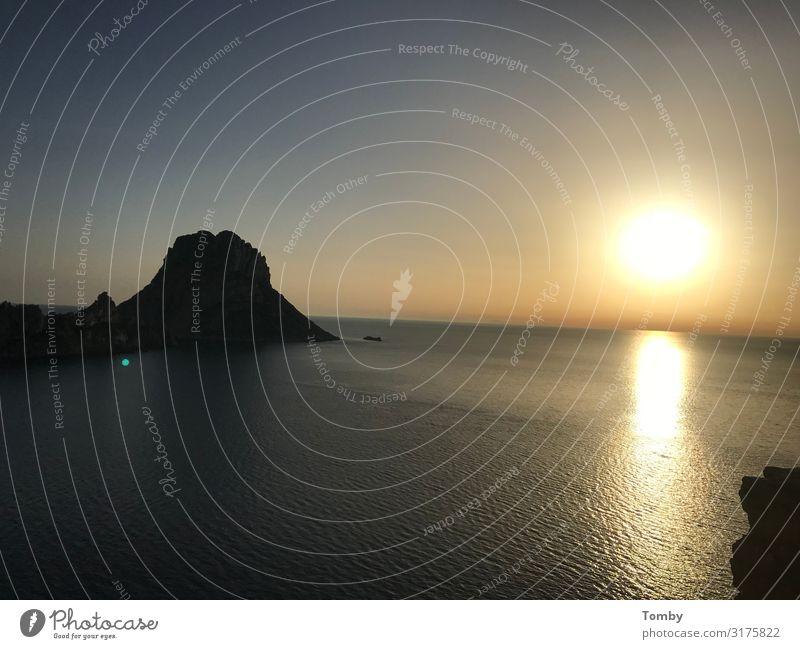 Sunset, Sunset, Ibiza, Es Vedra Nature Landscape Water Sunrise Sunlight Beach Ocean Mediterranean sea Island Deserted Gigantic es vedra magic Mystic