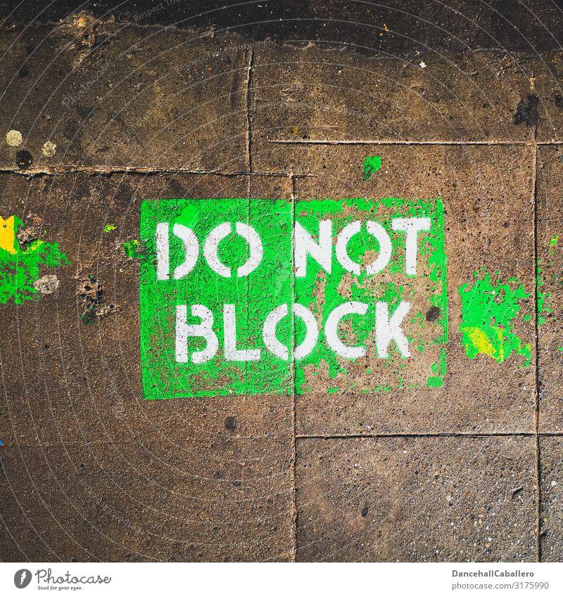 do not block... Transport Traffic infrastructure Cycling Pedestrian Street Crossroads Characters Signage Warning sign Graffiti Design Bans Block Information
