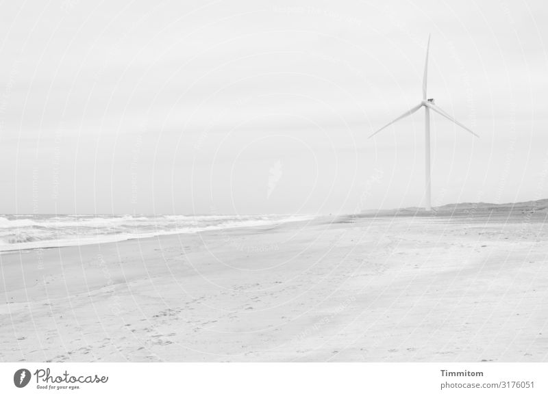 Delicate it seems Vacation & Travel Energy industry Environment Nature Landscape Elements Sand Water Climate Waves Beach North Sea Denmark Metal Rotate Esthetic
