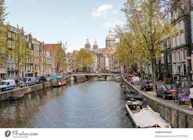 Amsterdam Canal and Waterside Architecture Lifestyle Relaxation Flat (apartment) Building Old Serene canal water residential Classic famous travel destination