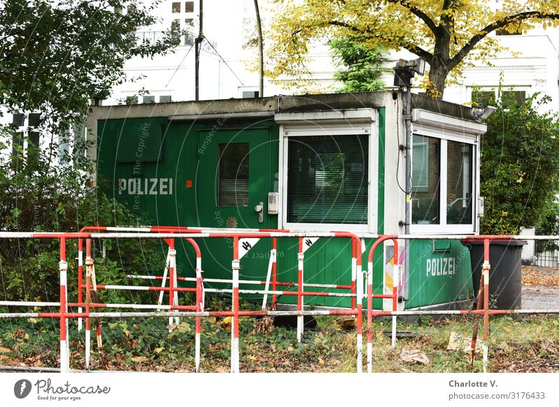 Old Plant Green White Red Loneliness Window Building Exceptional Metal Characters Dirty Stand Wait Hut Watchfulness