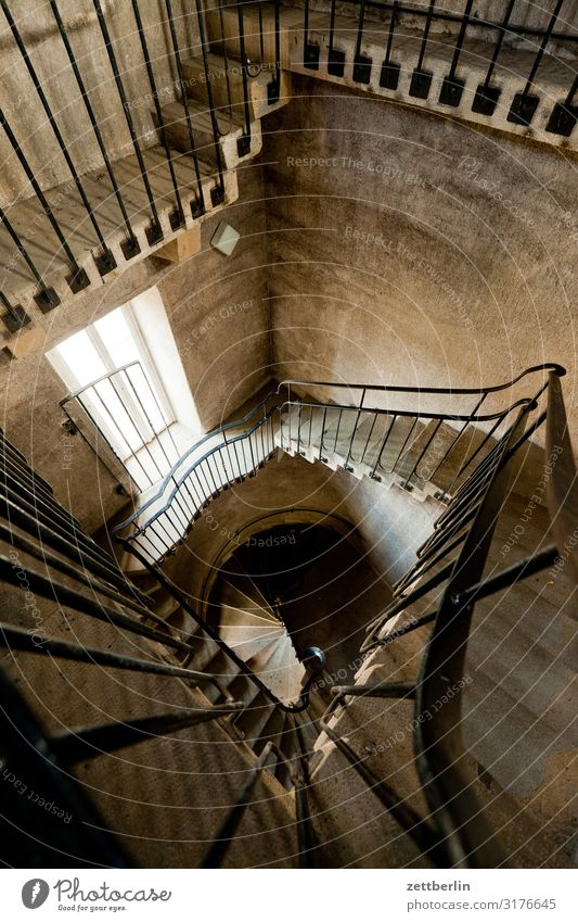 Spiral staircase in the Hohnstein castle tower Castle Elbsandstone mountains Rock Vacation & Travel Mountain hollow stone Small Town castle hohnstein