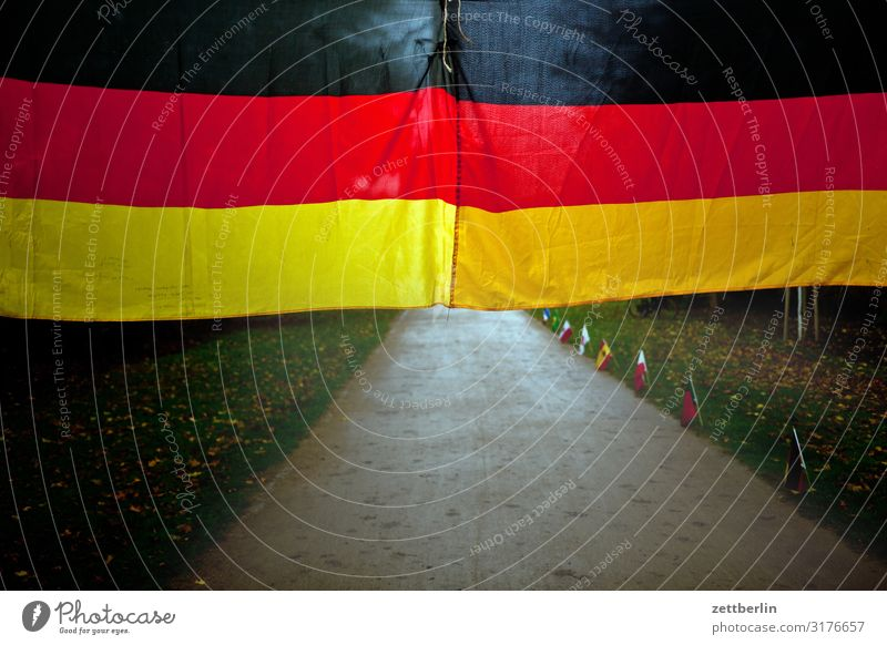 German flag Berlin zoo Germany German Flag Capital city Deserted Nationalities and ethnicity Park Copy Space Forest Lanes & trails