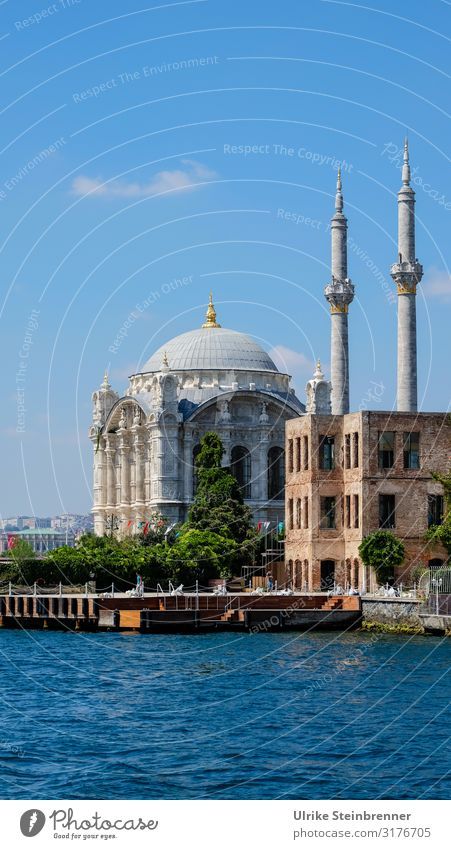 Baroque on the Bosporus Vacation & Travel Tourism Trip Sightseeing City trip Summer Istanbul Turkey Asia Town Port City Outskirts Deserted Church