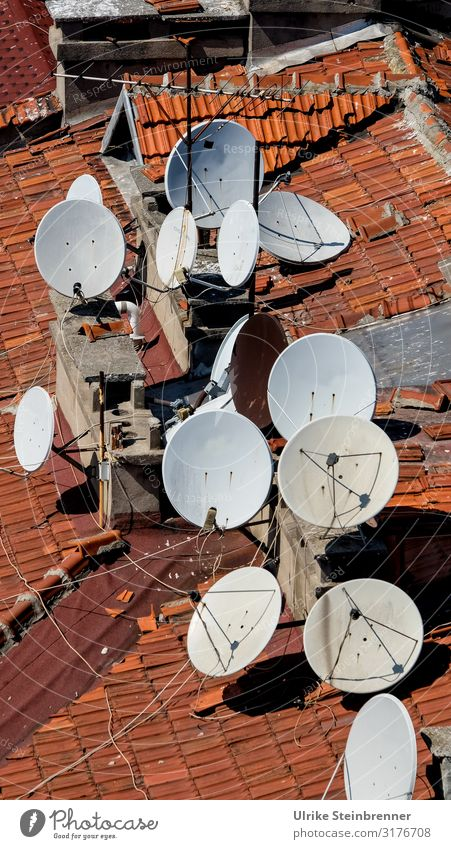 Reception Vacation & Travel Tourism City trip Istanbul Turkey Asia Town Downtown Old town House (Residential Structure) Building Roof Antenna Satellite dish