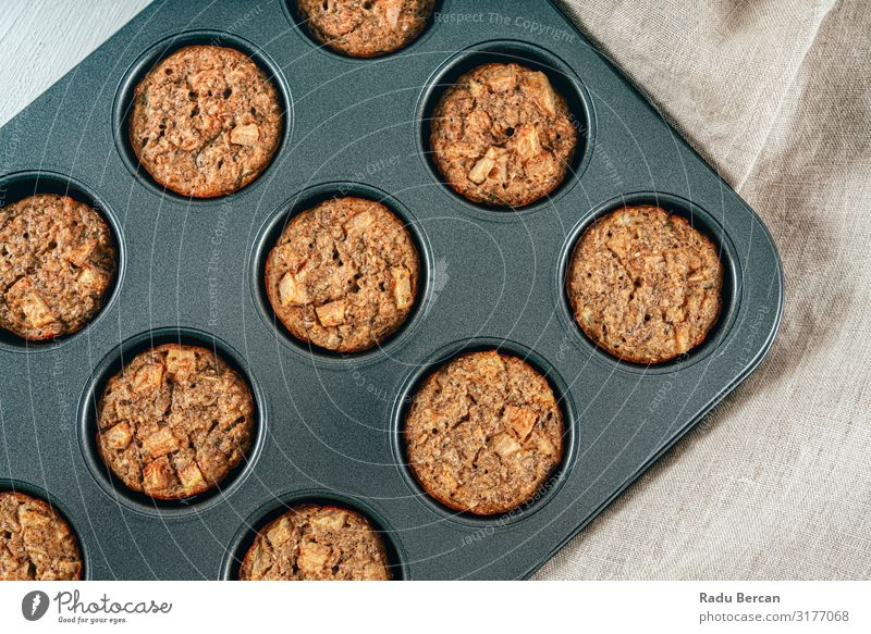 Pear, Cinnamon And Walnut Mini Breakfast Bites Fresh Baked goods Healthy Close-up Baking Dinner Cooking Gourmet Diet Brown Small Bakery Eating Natural Filling