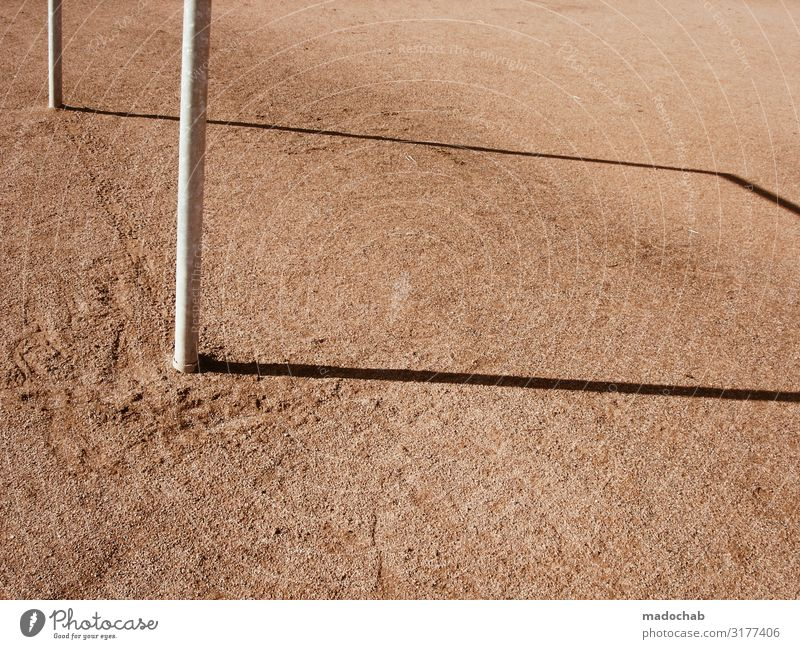shadow Sports Sporting Complex Football pitch Sporting grounds Goal Athletic Colour photo Subdued colour Multicoloured Exterior shot Pattern