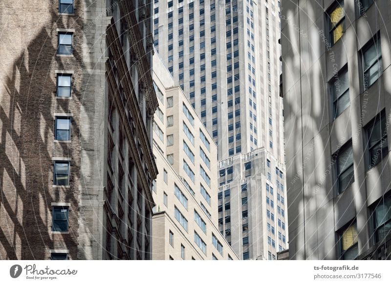 New York Cubism New York City Manhattan Downtown Deserted House (Residential Structure) High-rise Manmade structures Building Architecture Wall (barrier)