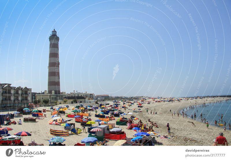 AVEIRO, PORTUGAL - JULY 31 Joy Happy Beautiful Vacation & Travel Summer Sun Beach Ocean Child Human being Woman Adults Man Landscape Sand Sky Coast Town