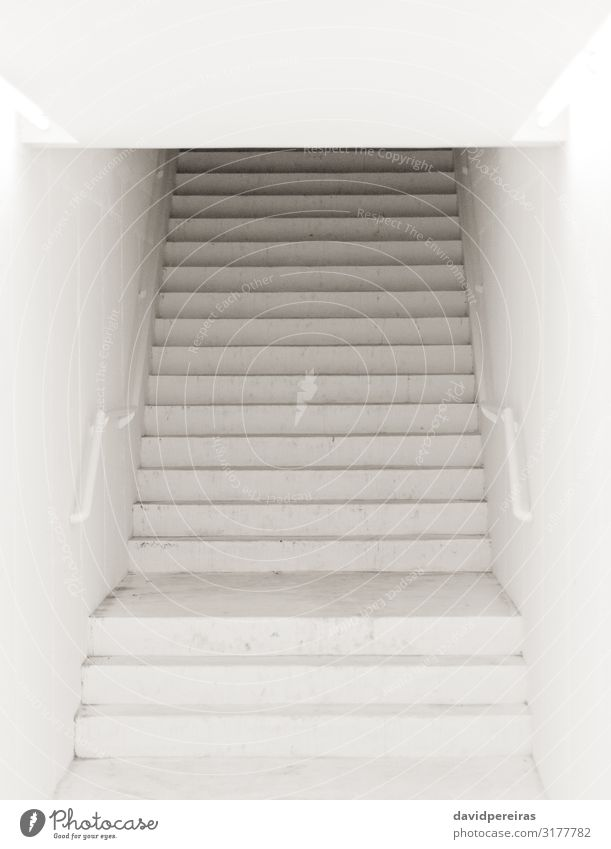 Misterious stairway Building Stairs Modern Black White arquitecture entrance hall lineal linear Luminosity solitary square staircase steps urban scene