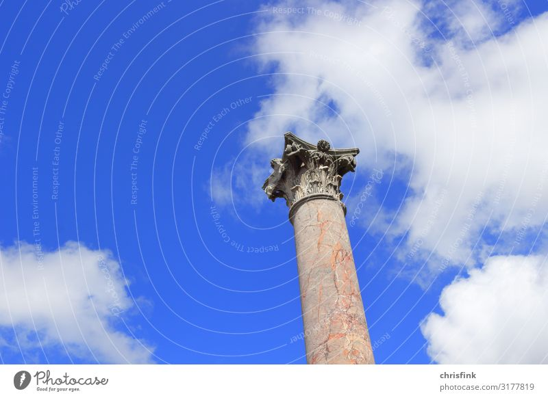 Roman column with capital Vacation & Travel Tourism Sightseeing Summer Art Artist Work of art Sculpture Architecture House (Residential Structure) Build Old