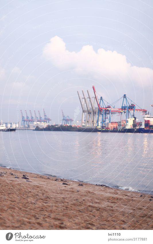 Blue White Hamburg Harbour Crane