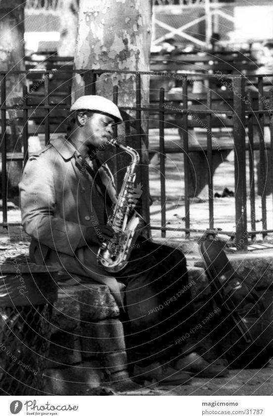 Saxman Saxophone New York City Man Music Musician
