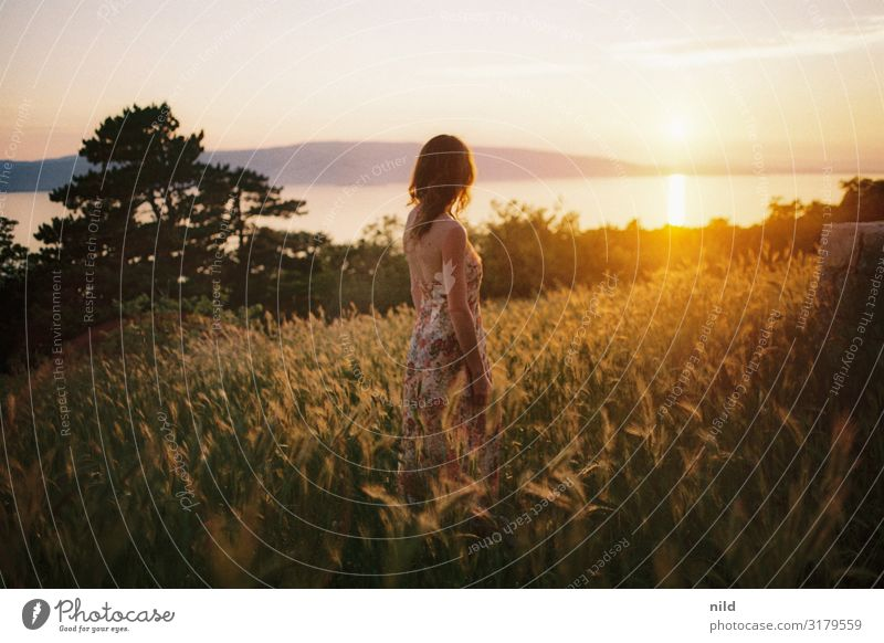 sea view Beautiful Vacation & Travel Tourism Far-off places Freedom Summer Summer vacation Ocean Island Human being Feminine Young woman Youth (Young adults)