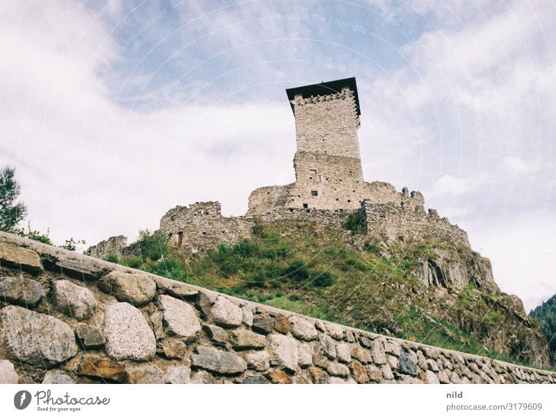 Castello di Ossana Vacation & Travel Tourism Summer ossana Trentino Castle Ruin Tower Manmade structures Building Architecture Tourist Attraction Gigantic Blue