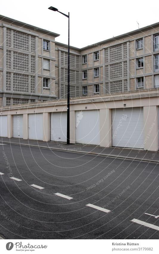 le havre architecture Le Havre Port City Deserted House (Residential Structure) Building Architecture Facade Garage Concrete Gray brutalism