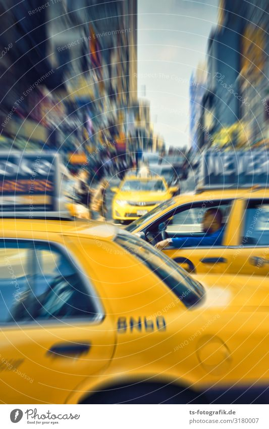 Yellow Traffic Jam, Times Square New York City USA Town Downtown Overpopulated House (Residential Structure) Places Building Architecture Tourist Attraction