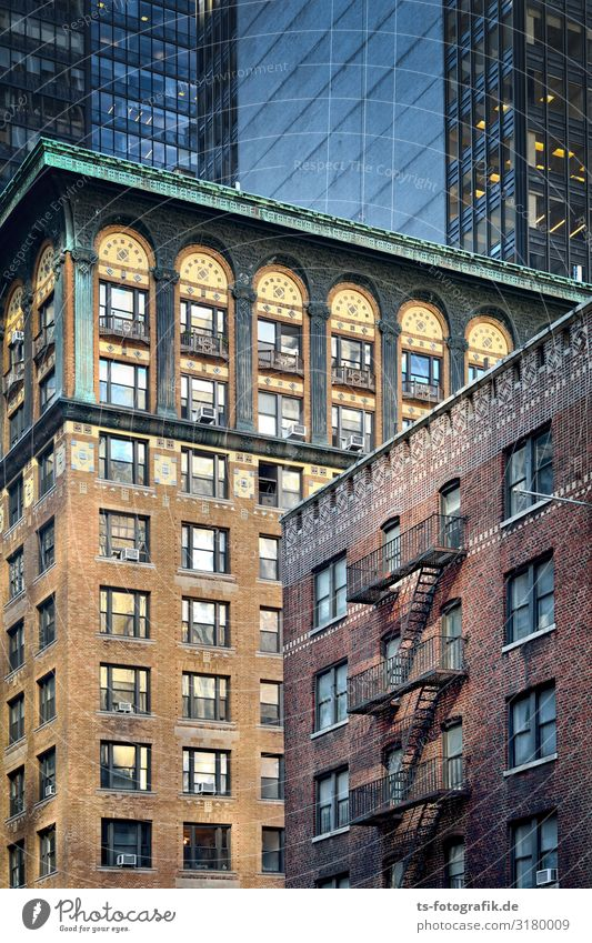 Rental shark in a porridge New York City Manhattan USA Town Downtown Deserted House (Residential Structure) High-rise Tower Manmade structures Building