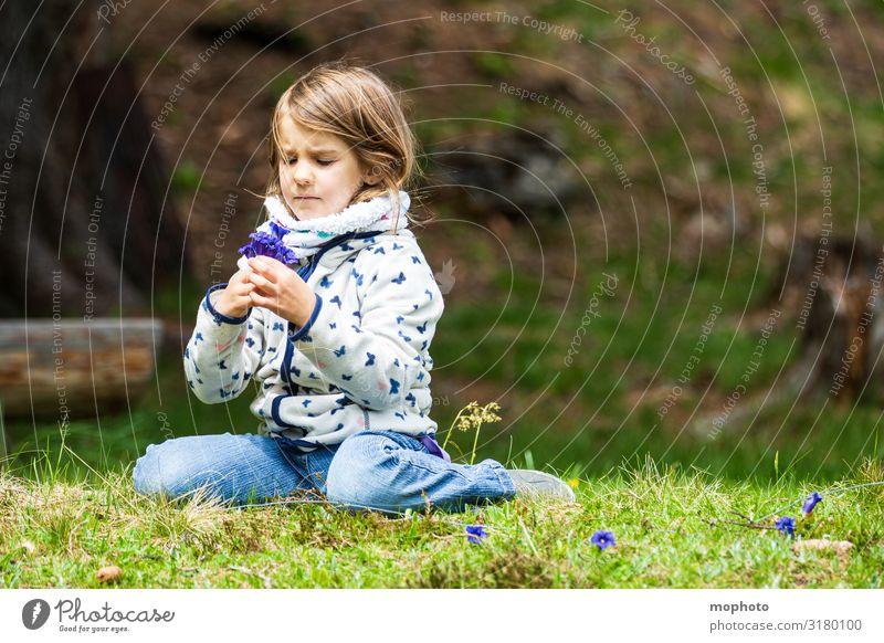Pick gentian Vacation & Travel Tourism Trip Adventure Parenting Child Schoolchild Human being Feminine Girl Infancy 1 3 - 8 years Nature Plant Flower Grass