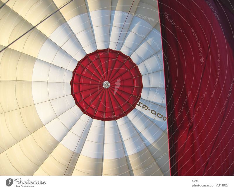 Red Lighting Room Airplane Rope Aviation Characters Circle Round Cloth Middle Hot Air Balloon Geometry Rag Sheath Center point