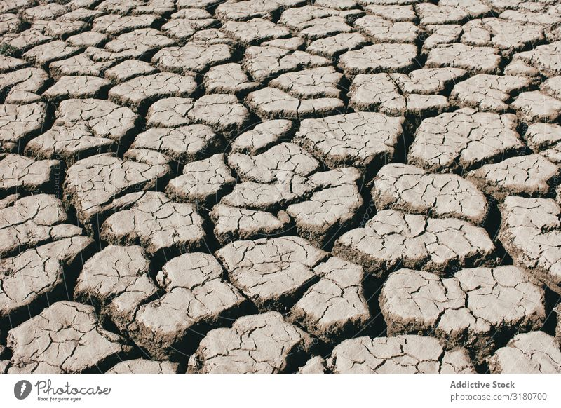 Cracks on dry ground Ground Crack & Rip & Tear Dry Landscape Nature Drought Earth Hot Sunbeam Day Environment Landing Climate Clay Surface Weather warming arid
