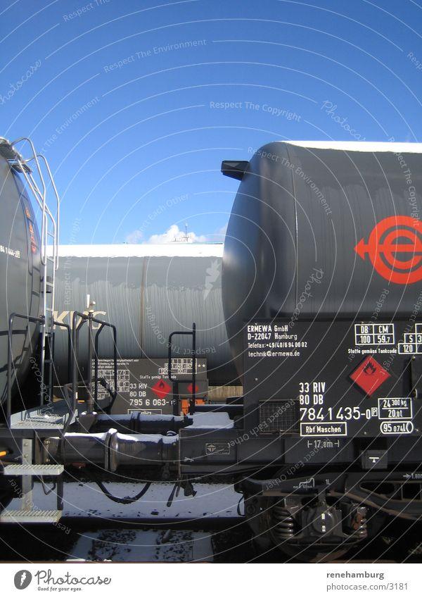 Transport Railroad Railroad tracks Tank Freight station