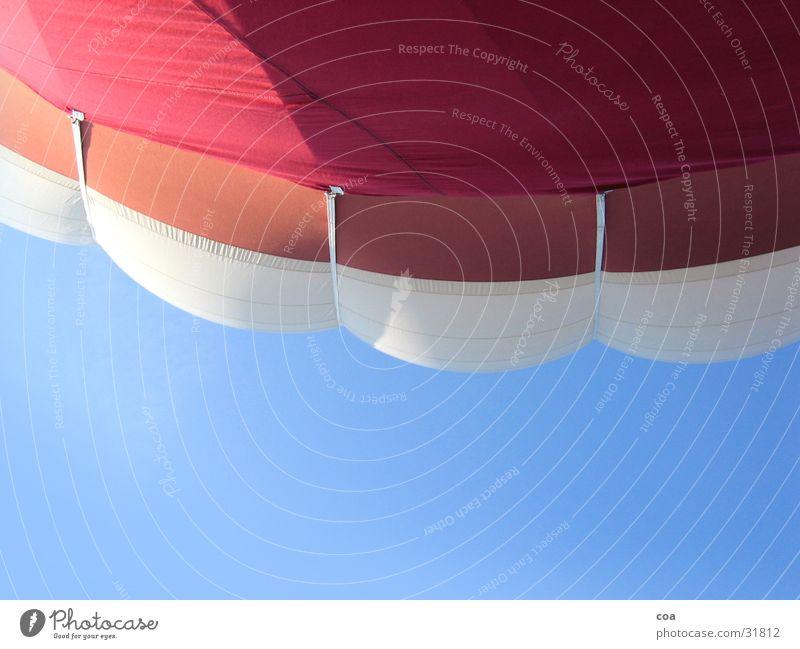 balloon envelope Cloth White Red Sunlight Aviation Sheath Sky Blue Detail Hot Air Balloon