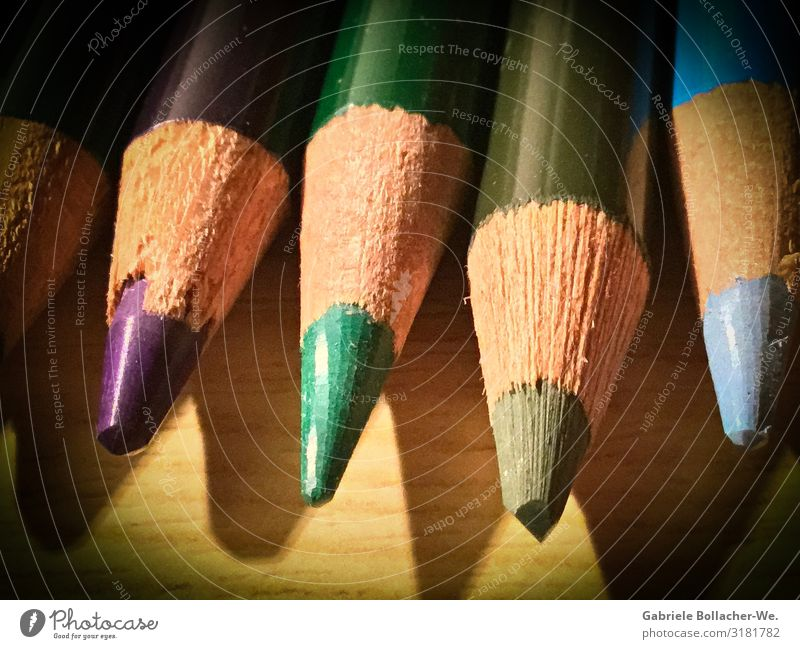 variegated Leisure and hobbies Stationery Pen Draw Write Beautiful Blue Gray Violet Painting (action, artwork) Colour photo Interior shot Artificial light