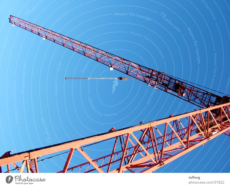 Construction site Crane Equipment Blue sky