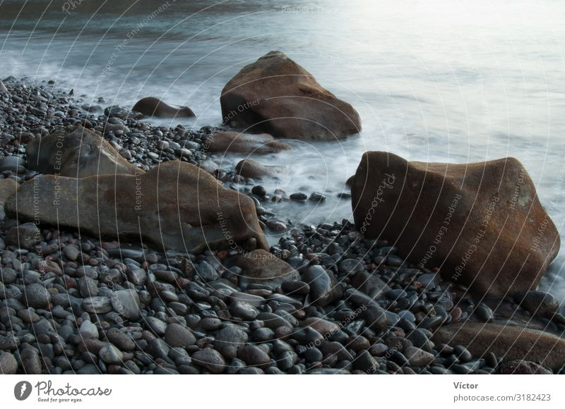 Coastal landscape. Las Playas Natural Monument. Valverde. El Hierro. Canary Islands. Spain. Nature Landscape Rock Ocean Stone Wild Colour Atlantic Ocean