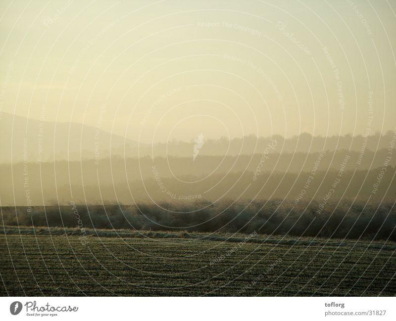 landscape Sunrise Twilight Swabian Jura Hill Autumn