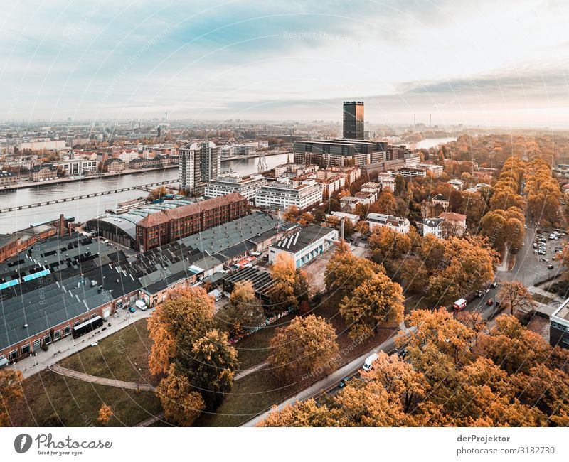 View towards Treptow/Berlin Vacation & Travel Tourism Trip Far-off places Freedom Sightseeing City trip Manmade structures Building Architecture