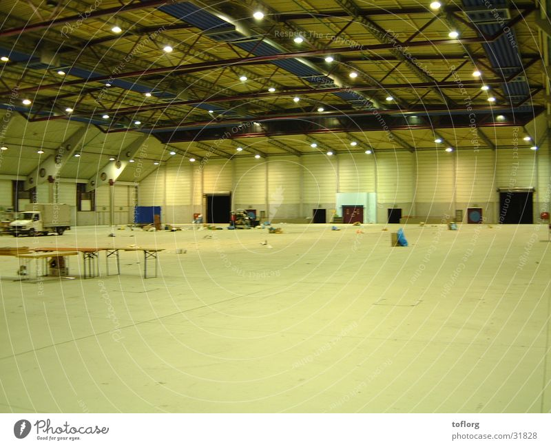 after-effect of the fair Architecture Warehouse Stand clearing work Exhibition hall Empty Dismantling