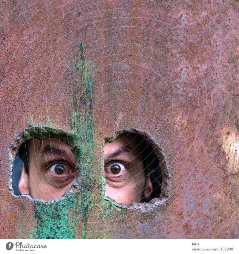 Eyes Wall (building) Copy Space Observe Hamburg