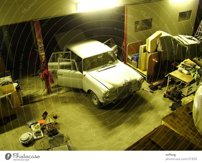 Car Technology Motor vehicle Workshop Vehicle Vintage car Electrical equipment
