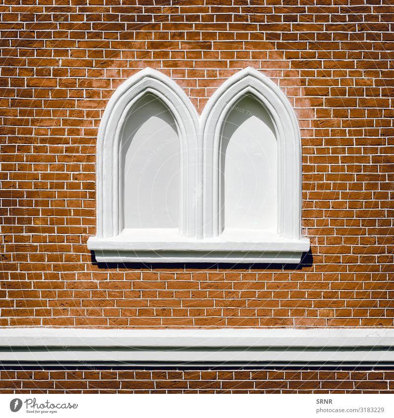 Bricked-up Windows Design Building Architecture Facade Town Ancient arc arch blank window brick brick masonry brick setting bricked-up window bricklaying work