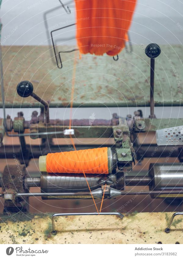 Machine reeling thread on spool Thread Spool machine Cotton Industry Factory Orange Production Material Cloth Equipment Clothing textile Spinning Tool Process
