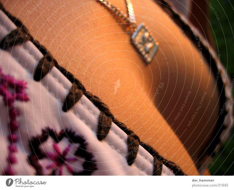 feminine forms Bikini Low neckline Woman Feminine Flower Chain Detail Chest