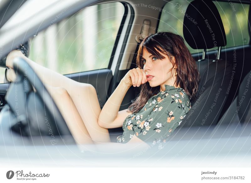 Woman resting in a car pulling her feet out the window Lifestyle Joy Happy Beautiful Relaxation Leisure and hobbies Vacation & Travel Trip Human being Feminine