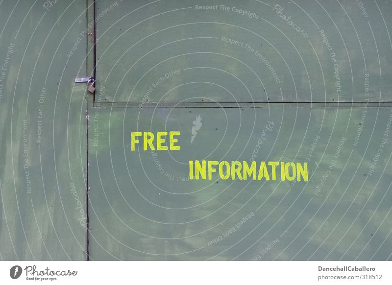 Wall with inscription free information Education School Services Call center Company Advice Study Interest Information Exchange of information