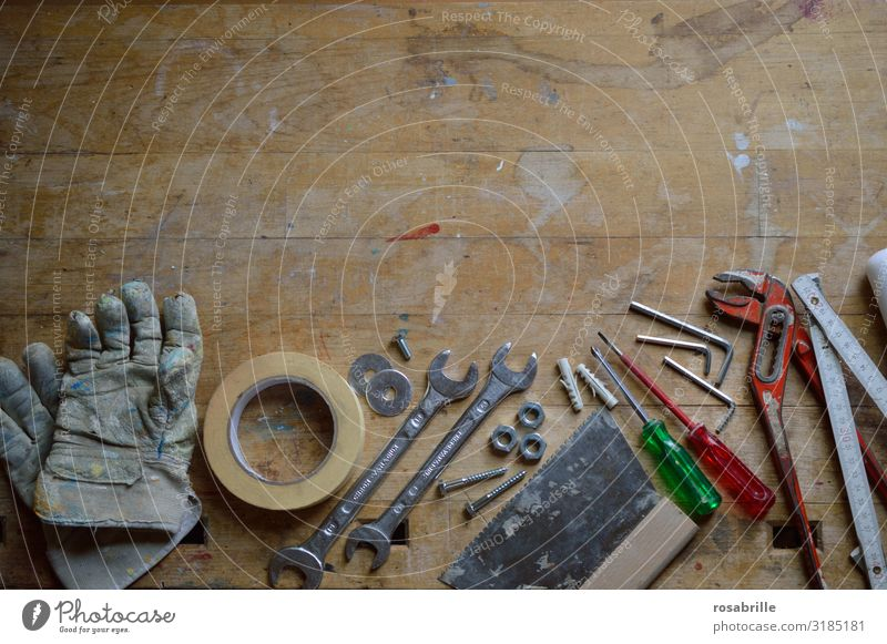 Work and employment Construction site Mother Craft (trade) Material Workshop Tool Craftsperson Repair Self-made Screw Diligent Home improvement Father's Day