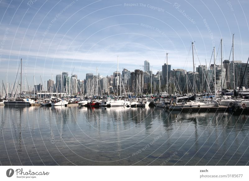 Living by the water Water Coast Bay Fjord Lake Vancouver Canada Town Port City Downtown Skyline Overpopulated House (Residential Structure) High-rise