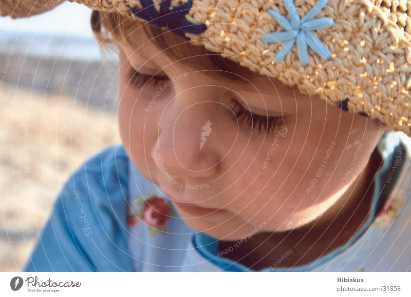 hat face Child Girl Vacation & Travel Beach Playing Sun To enjoy Dream Baltic Sea Hat