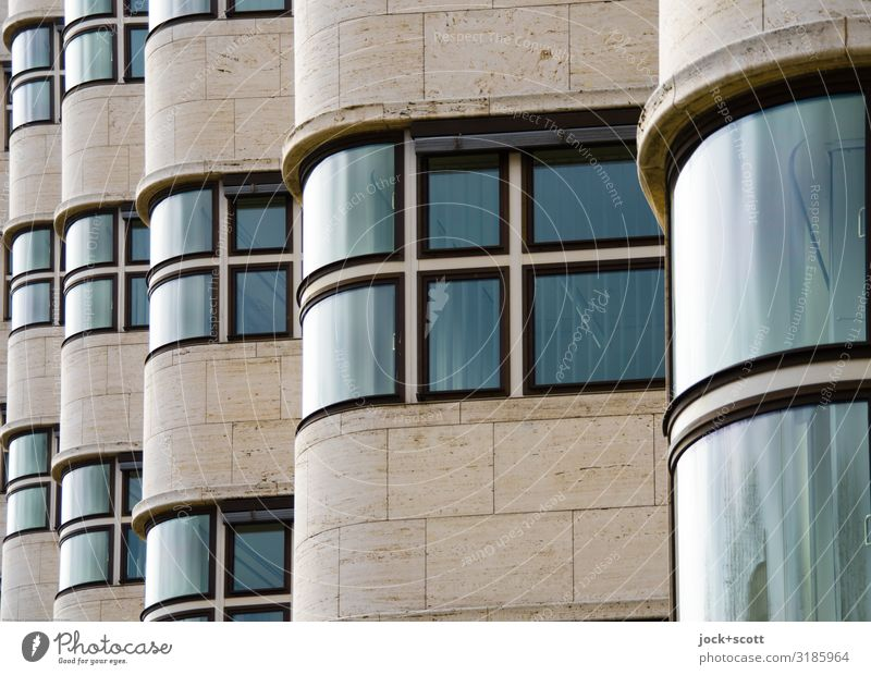 Objectivity of a house facade Design Architecture Berlin zoo Facade Window Tourist Attraction Exceptional Glittering Historic Retro Moody Safety (feeling of)