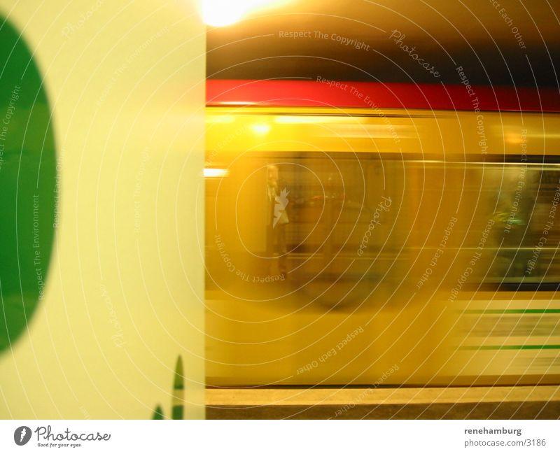 Berlin Railway Railroad Station Motion blur Ski-run Speed Reflection Colour photo