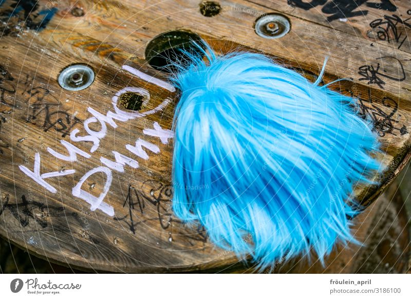Puschelpunx II | UT HH19 Hairdresser Services Accessory Wig Punk Wood Characters Brash Friendliness Happiness Hip & trendy Uniqueness Blue Brown White Joy