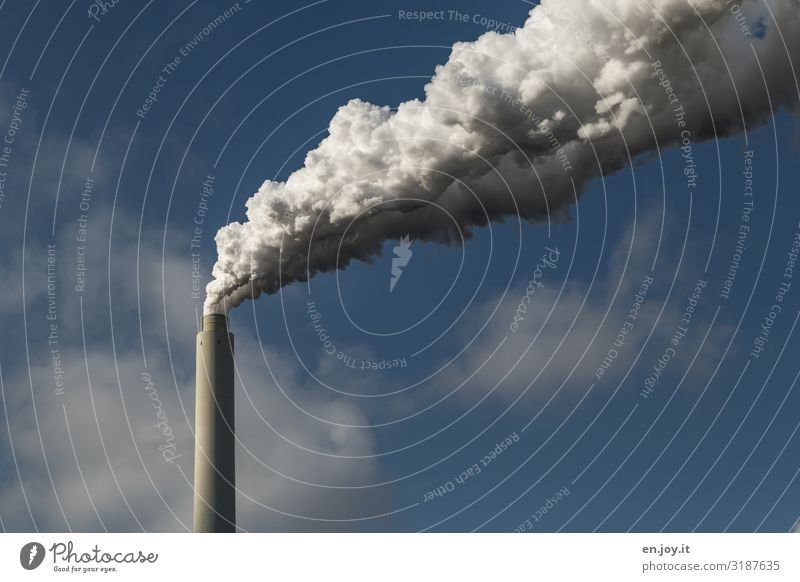 Sky Town Environment Energy industry Beautiful weather Future Dangerous Industry Climate Fear of the future Smoking Factory Environmental protection