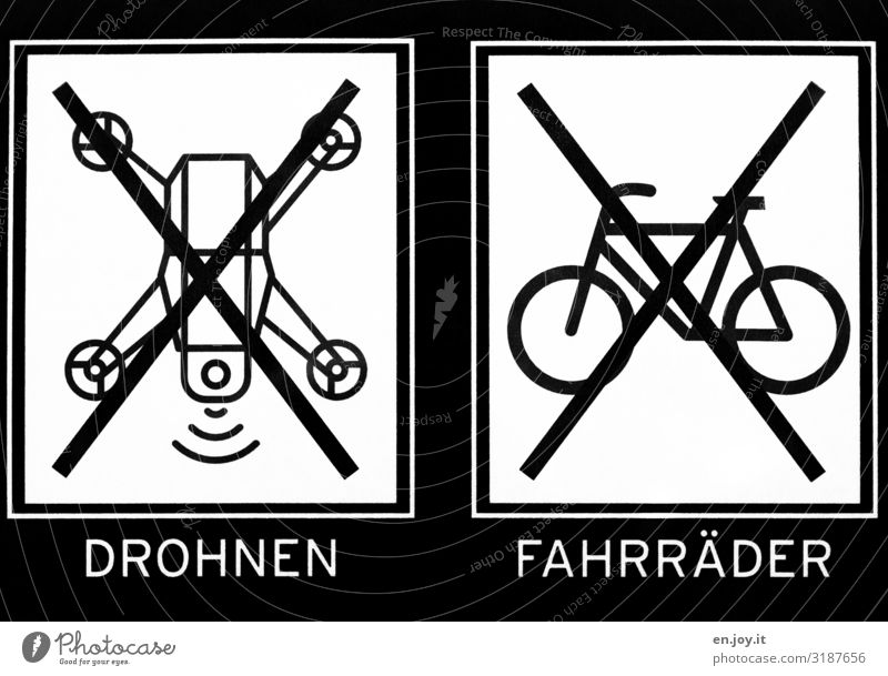 forbidden Sign Characters Signs and labeling Signage Warning sign Aggression Testing & Control Protection Surveillance Bans drone Bicycle Prohibition sign Icon